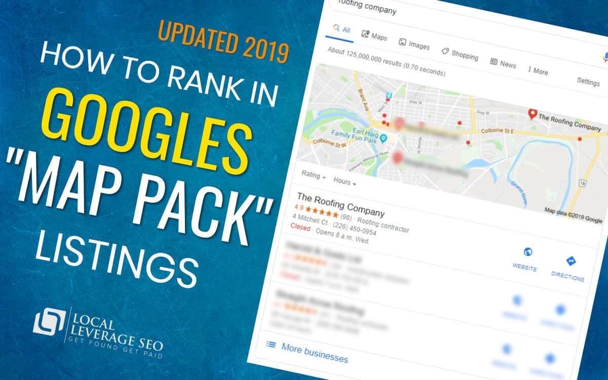 how to rank in googles map pack listings