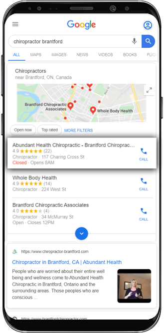 SEO Site Audit Local Phone Search Image